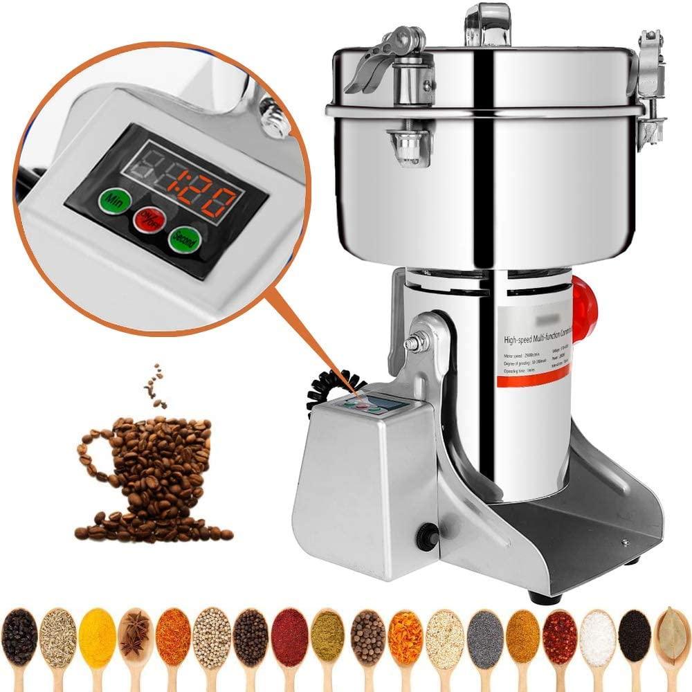 Marada 500g Electric Mill Grinder Stainless Steel 110V Pulverizer Grinding Machine for Kitchen Herb Spice Pepper Coffee Powder Grinder (500g)