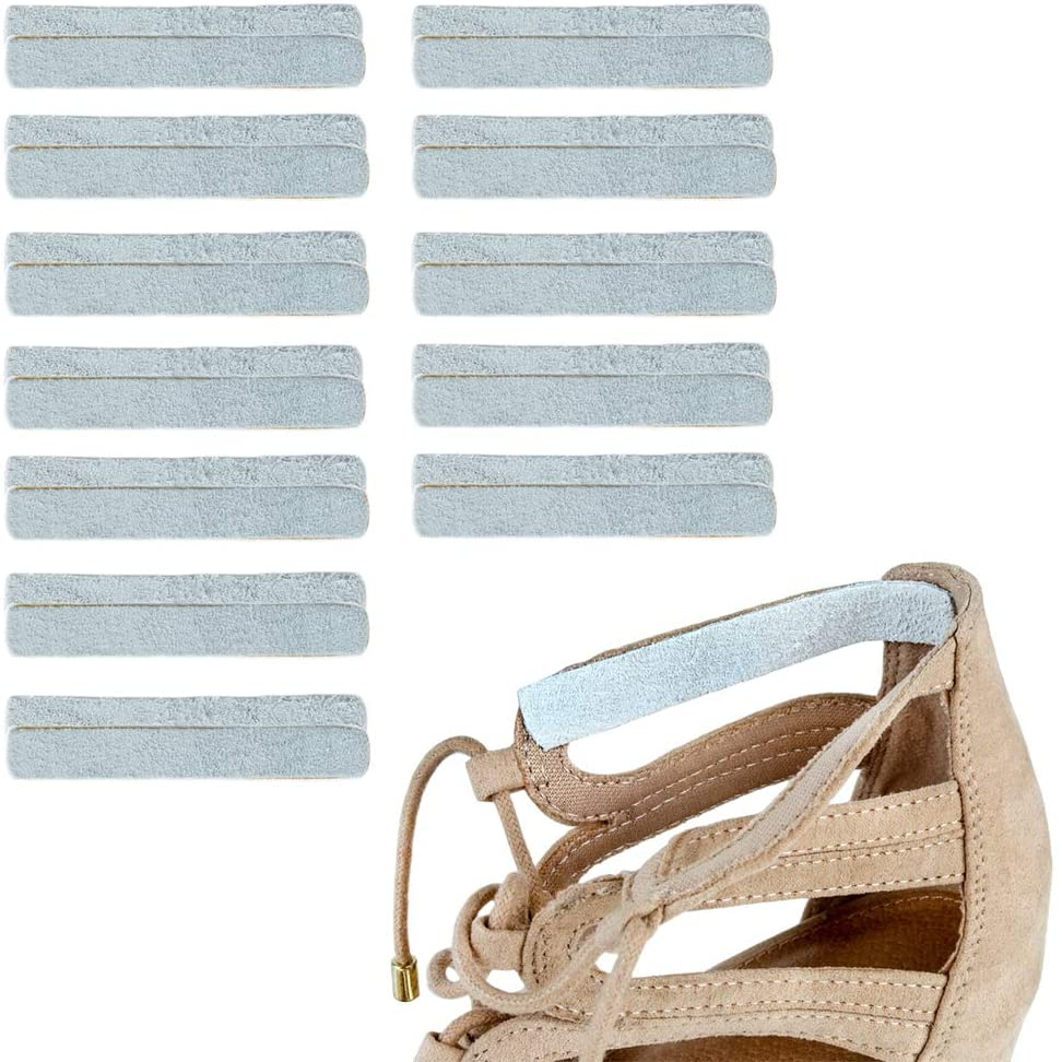 Heel Lovers Suede Leather Adhesive Slings (24 Slings)- Strap Cushion Grips for High Heels, Wedges, and Ankle Strap Shoes