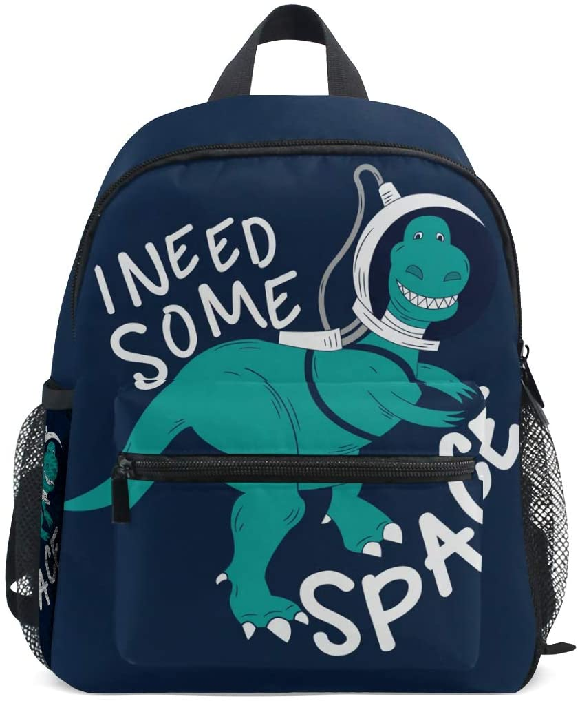 OREZI Astronaut DinosaurToddler Bag with Removable Chest Clip Travel Bag Snack diapers Bag Preschool Backpack for Kids Little Boy Girls