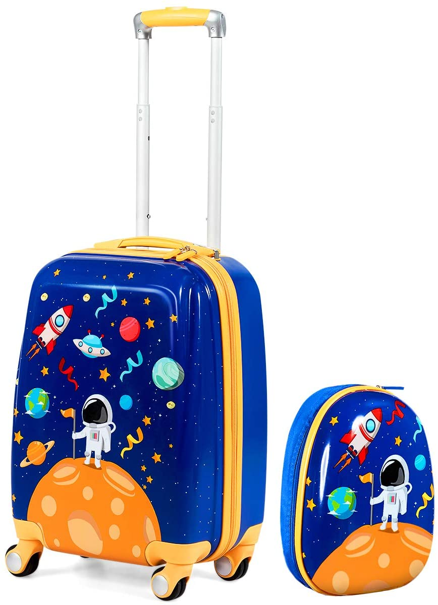 HONEY JOY 2 Pcs Kids Carry On Luggage, 12