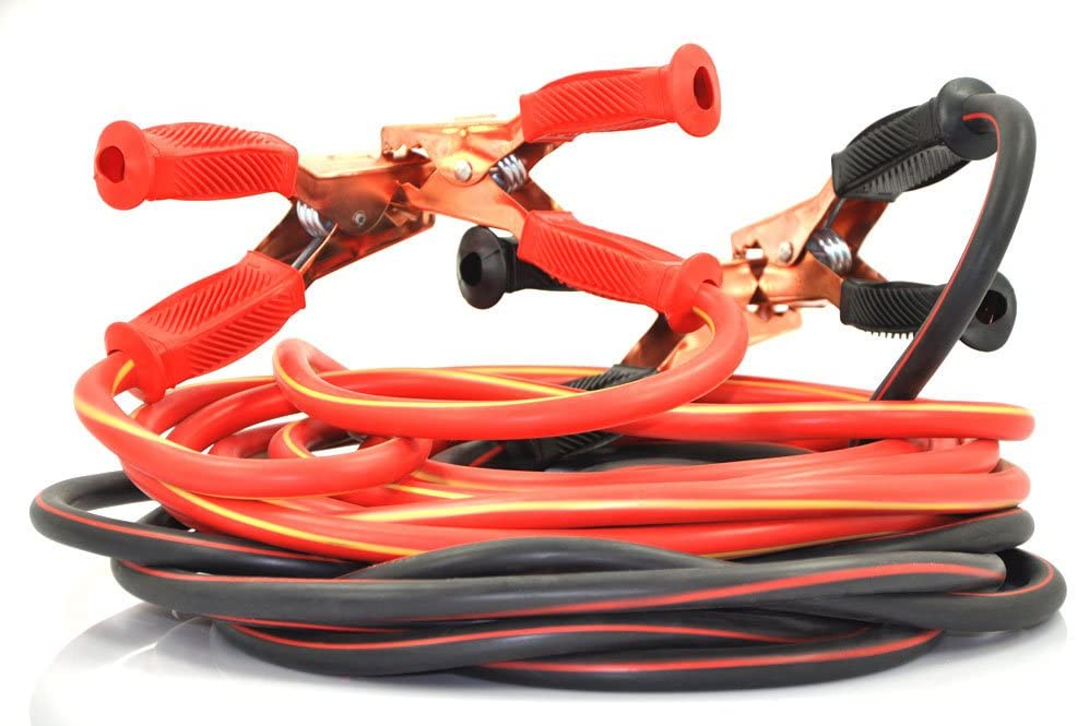 XINCOL Heavy Duty 1-Gauge Ultra 2500A 100% Copper Wire Jumper Cable Booster Cable For Truck Anti-frozen Heat Insulation Jump Leads with Free Carry Bag Size 20Ft