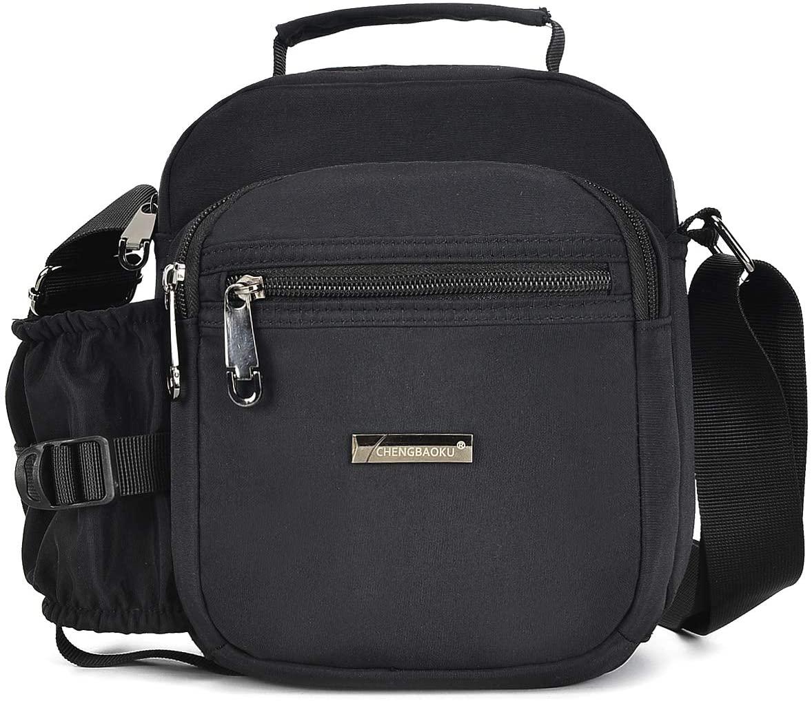 Wxnow Waterproof Shoulder Bag Messenger Bag Handbag for Men and Women (G-Black) Wxnow Men's Multifunctional Messenger Bag - Crossbody Shoulder Bags Women Casual Sling Pack for Everyday Use (G-Black)