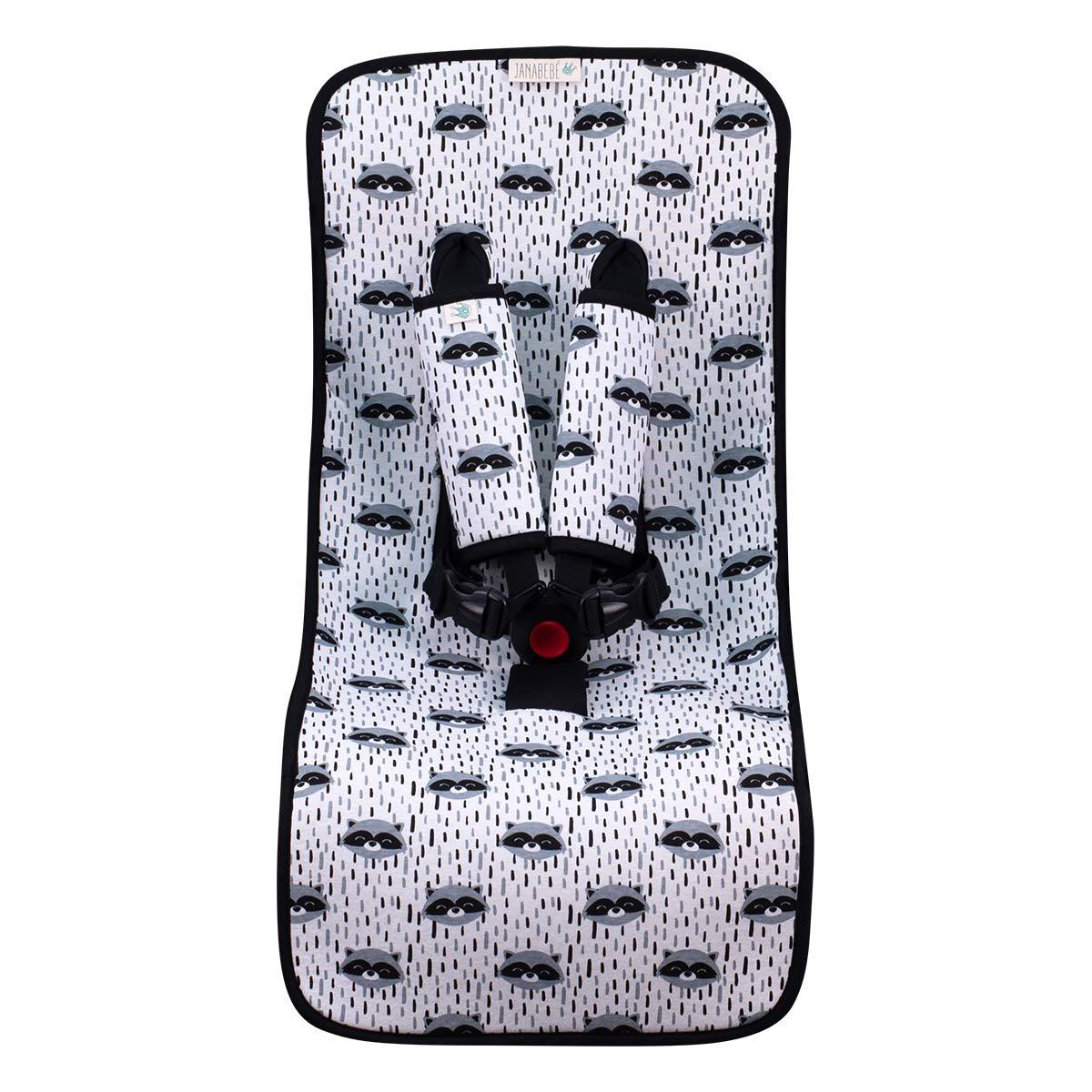 Janabebé Universal Luxury Foam Cover Liner for Stroller (Raccoon)