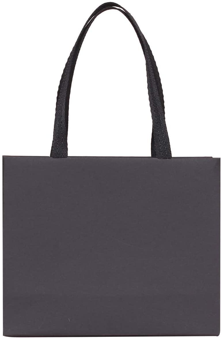 16pcs XS Paper Bag, Small Gift Bag, Premium Jewelry Gift Bag (Black, 6.3X2.4X5.1