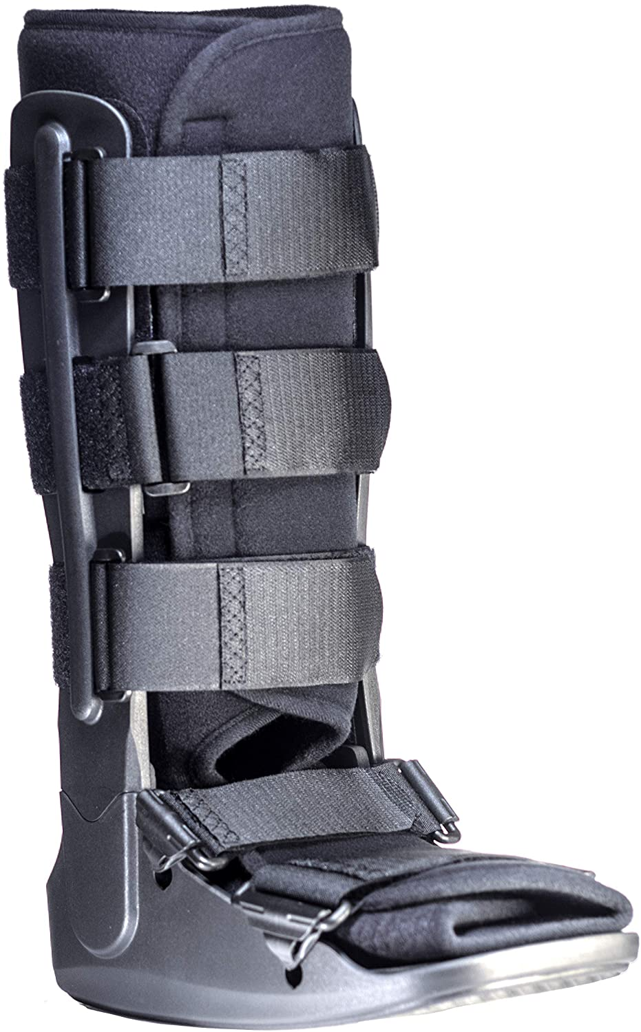 Light Weight Low Profile Tall Cam Walker Fracture Boot, Black, Breathable Insole (Medium)