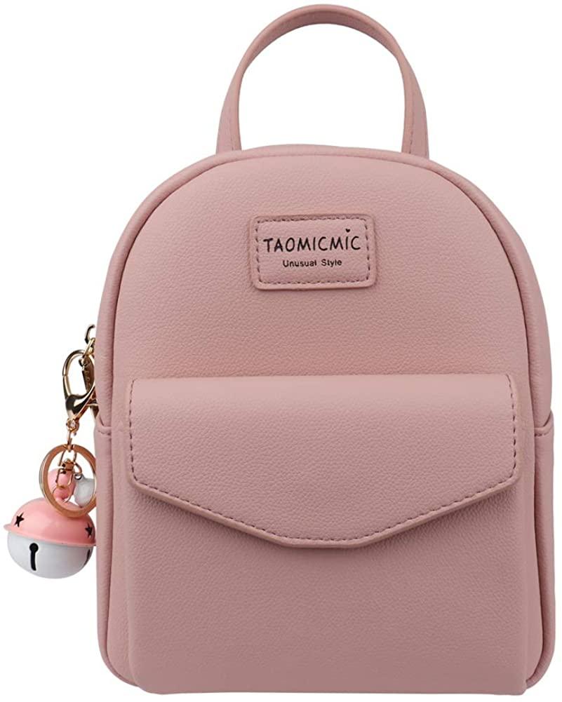 Aeeque Small Backpack Purse Women Teen Girl Mini Backpacks Leather Crossbody Bag