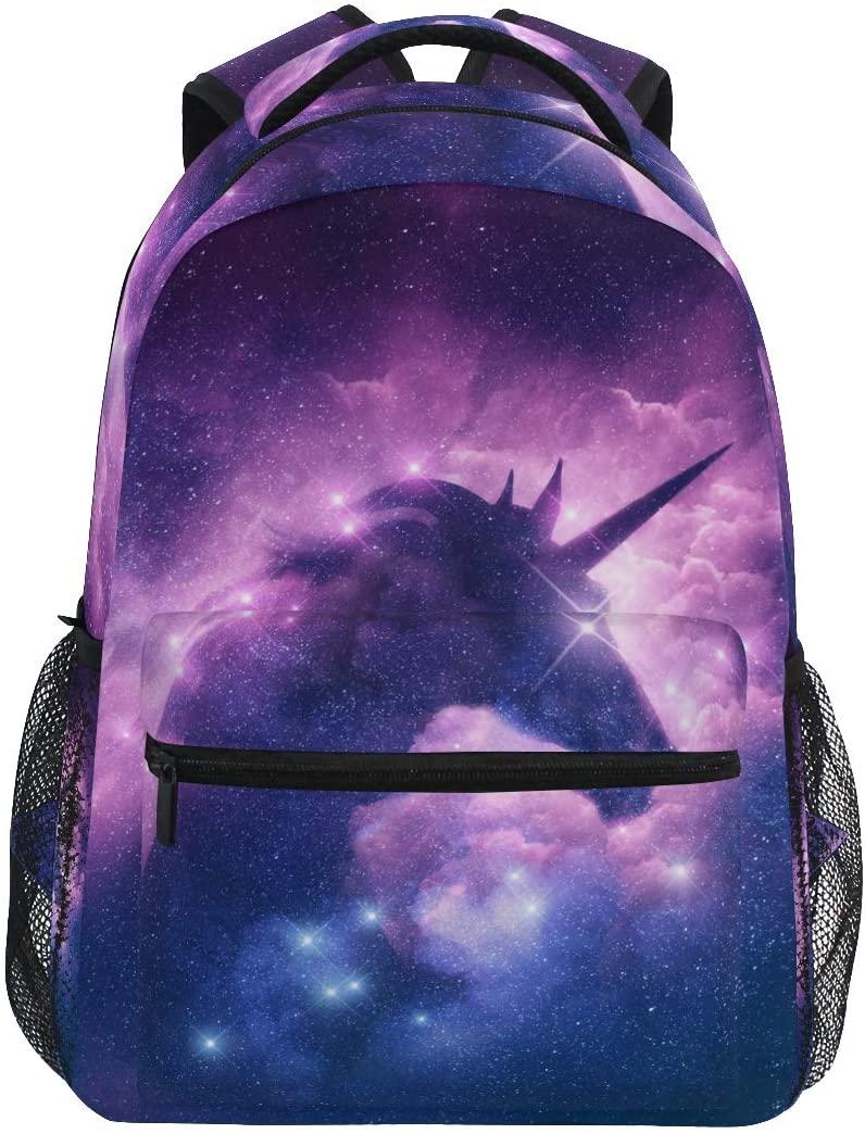 MNSRUU Unicorn Starry Backpack for Girls Boys- School Bookbags Laptop Backpacks Waterproof Travel Daypack