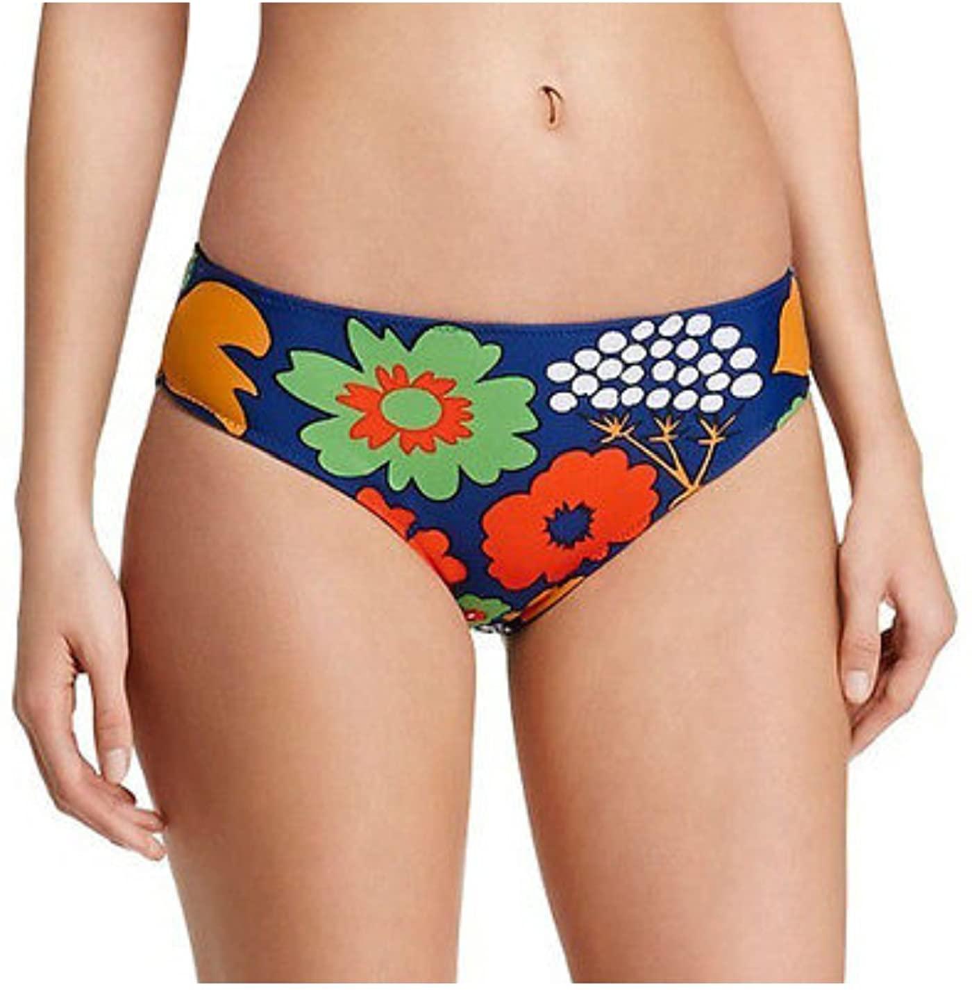 Marimekko Reversible Bikini Swimsuit Bottom Kukkatori Primary Print and Blue