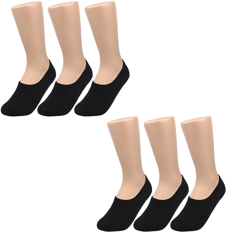 PACKO No Show Socks Women for Flats Gray White Black women's Cotton socks