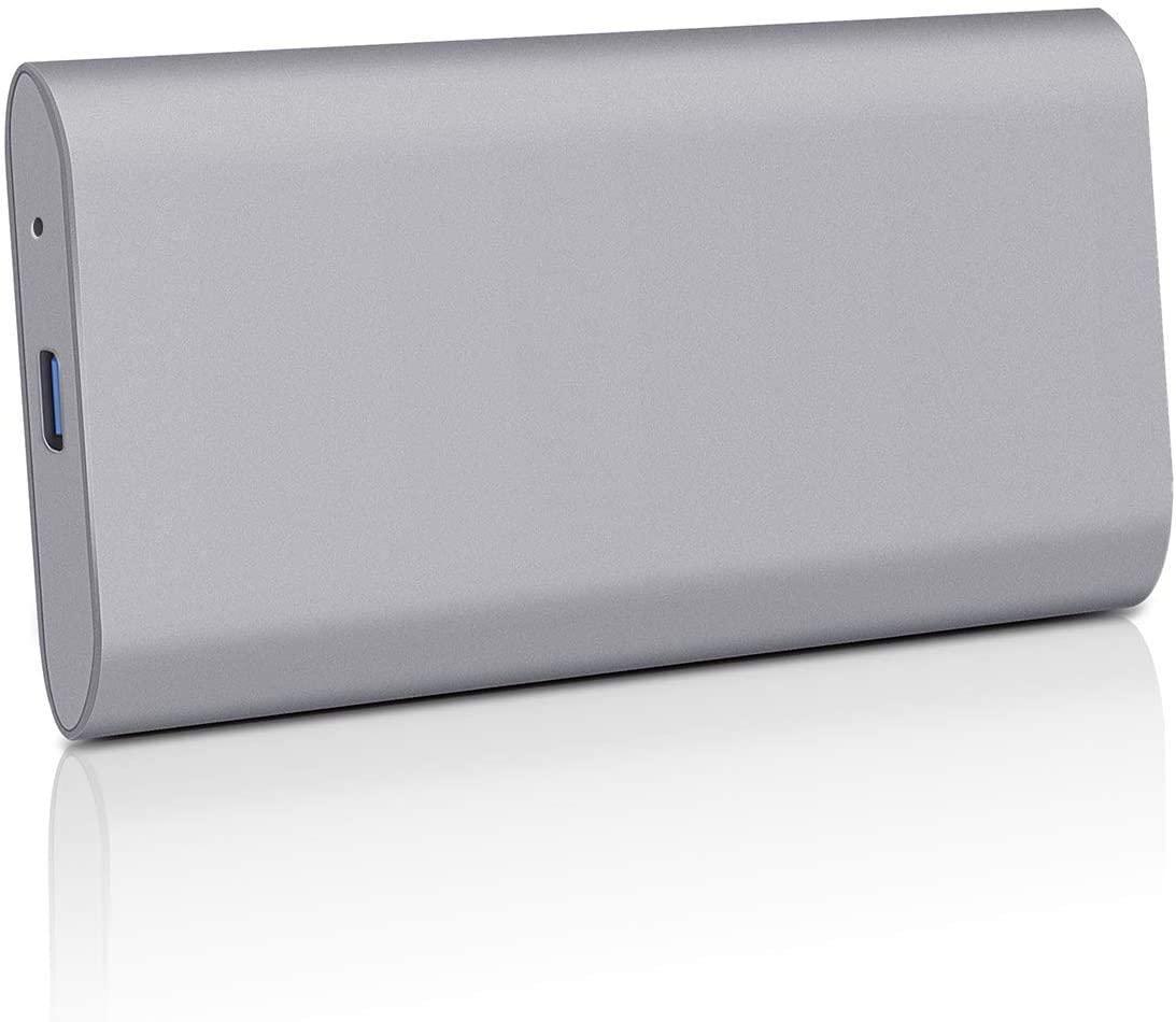 External Hard Drive, External Hard Drive Portable 1TB 2TB Slim External Hard Drive Compatible with PC, Desktop, Laptop, Mac (2TB, Grey)