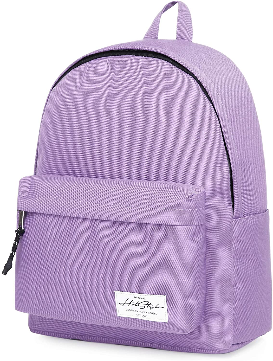 SIMPLAY+ High School Backpack, Durable Water-resistance Bookbag with 11 Storage Pockets & Padded Straps, Lavender