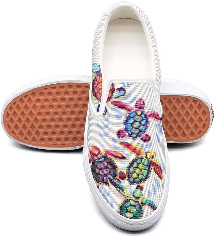 Skull Chef Slip on Sneakers for Women Ocean Sea Animal Tortoise Turtle Running Shoes Sea Turtle Lover Gifts