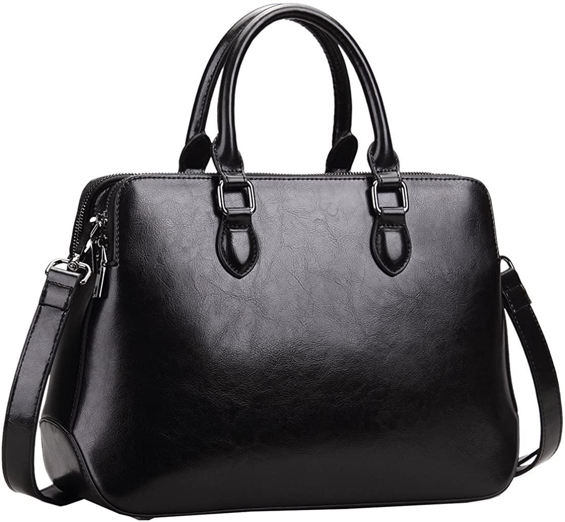 Heshe Leather Womens Handbags Totes Top Handle Shoulder Bag Satchel Ladies Purses