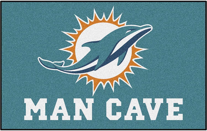 NFL Miami Dolphins Man Cave Ultimate Rectangular Mat Area Rug