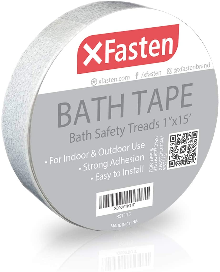 XFasten Anti Slip Tape Bathtub and Shower Treads, 1-Inch by 15-Foot