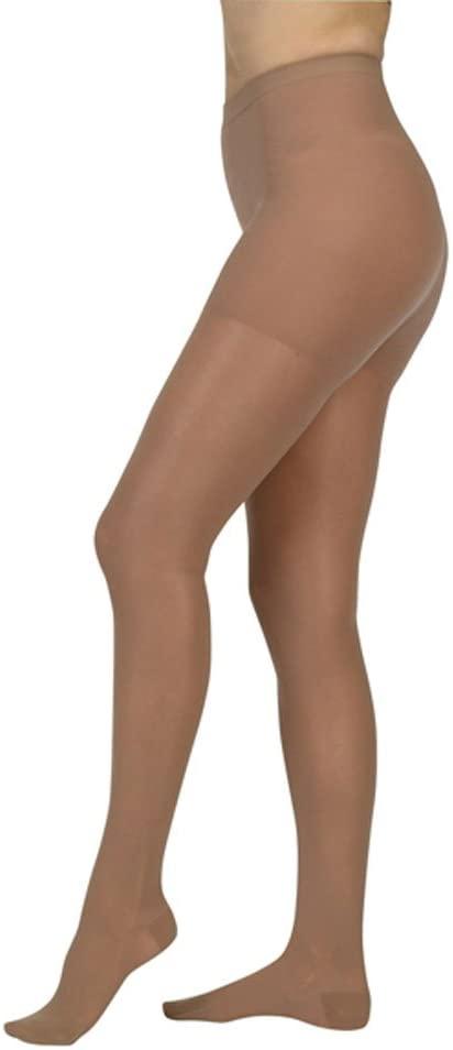 Juzo Naturally Sheer Compression Pantyhose Short Open Toe 15-20mmHg, II, Black