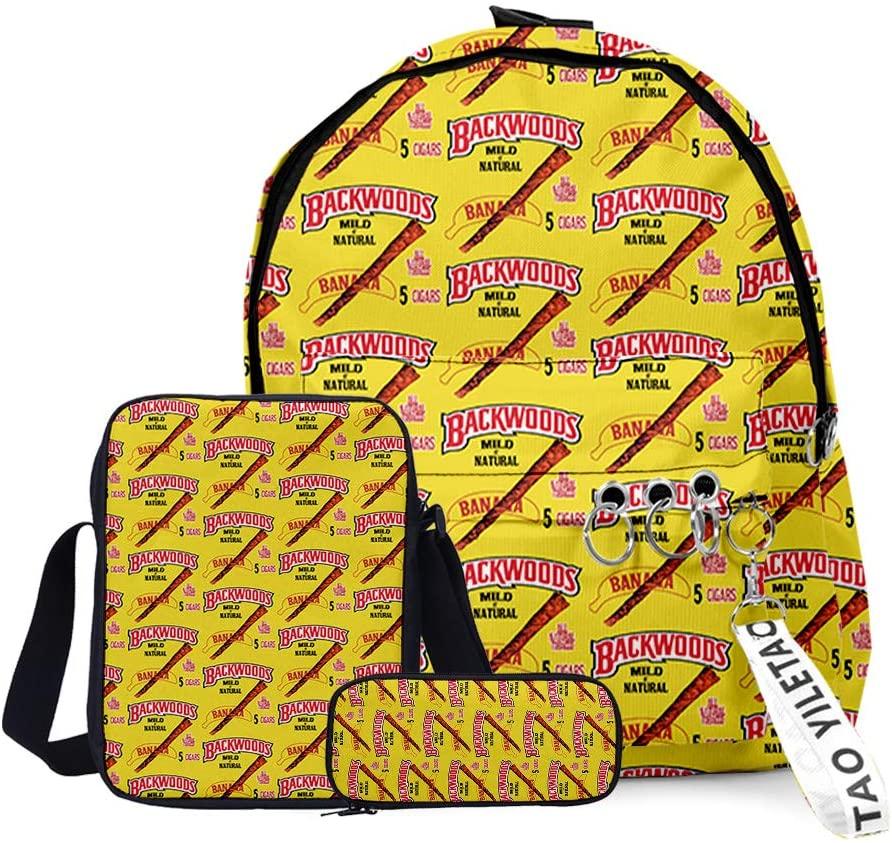 Backwoods Backpack Shoulder Bag Pencil Case Outdoor School Backpack Set 1
