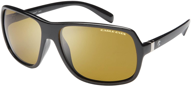 Eagle Eyes Cabriolet Polarized Sunglasses - Champion Style Sunglasses - UVA, UVB and Blue Light Blocking Protection - Black