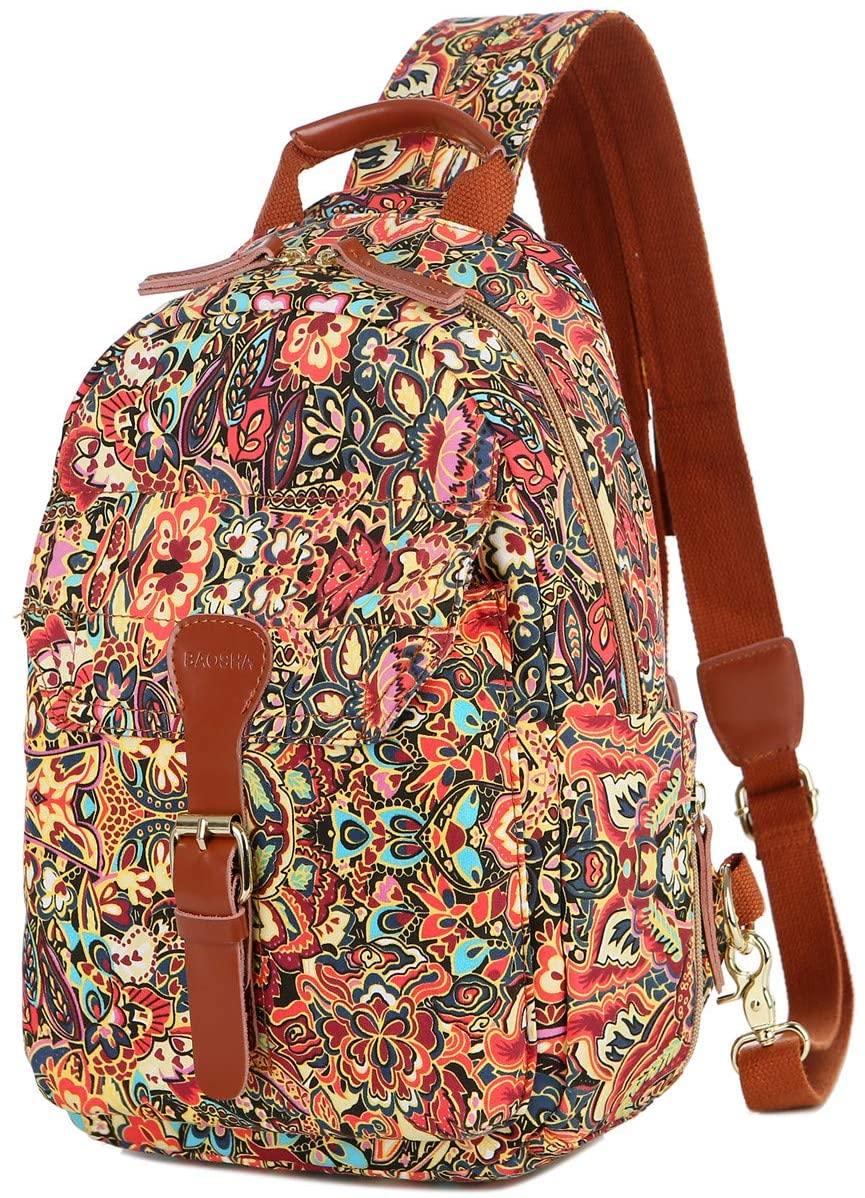 BAOSHA Womens colorful Small Cute Backpack Purse Chest Sling Bag Casual Daypack XB-06 (CS)