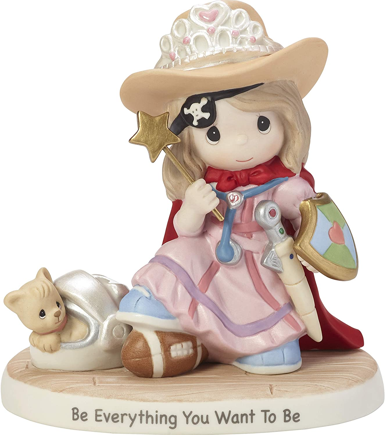 Precious Moments Be Everything You Want To Be Dress-Up Girl Bisque Porcelain Figurine 182005