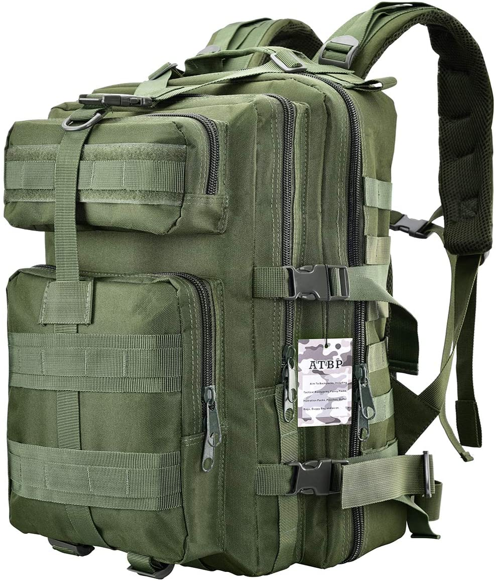 ATBP Tactical Rucksack Backpack Military Hydration Pack Hiking Hunting Daypack Large Army Molle Camel Backpack