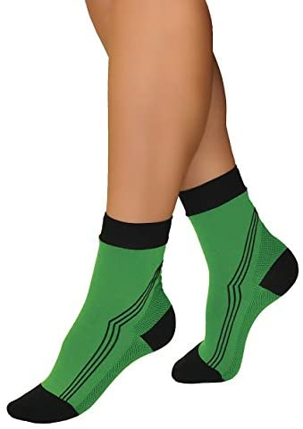 Tonus Activ Elastic Medical Compression Ankle Socks, Unisex - 18-21 mmHg - 42-45 EU (Green/Black)
