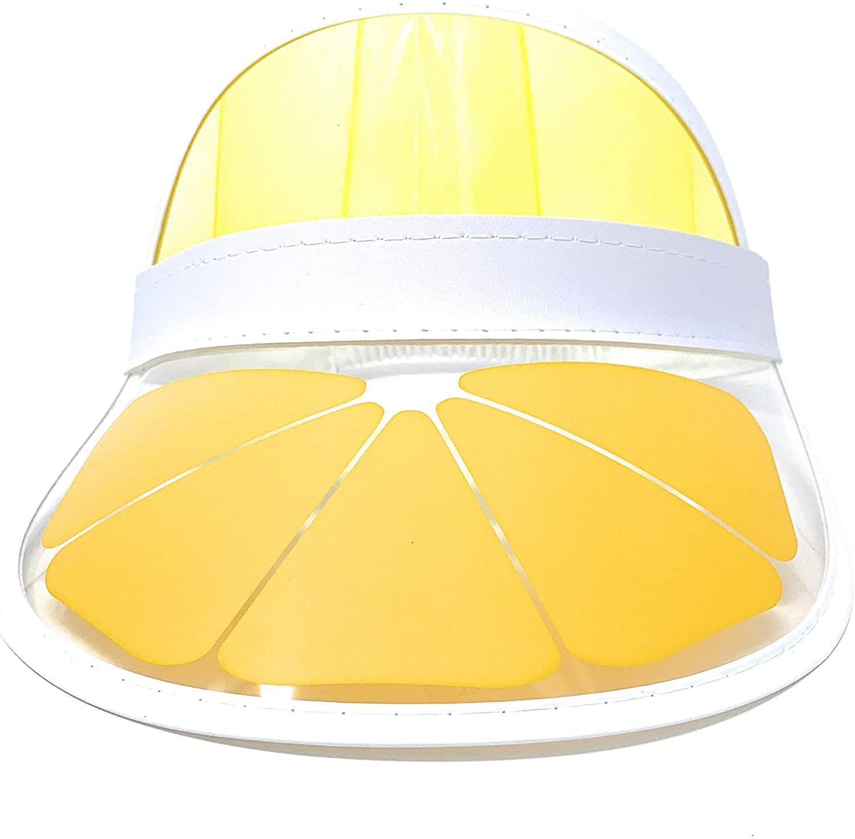Fun Retro Tennis Colored Vinyl Sun Visor, Set of 1 Plastic Color Visor, Perfect Neon Visor Beach Hat