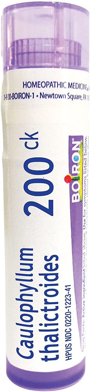 Boiron Caulophyllum thalictroides 200ck, 80 pellets, homeopathic Medicine for Menstrual Cramps, 1 Count