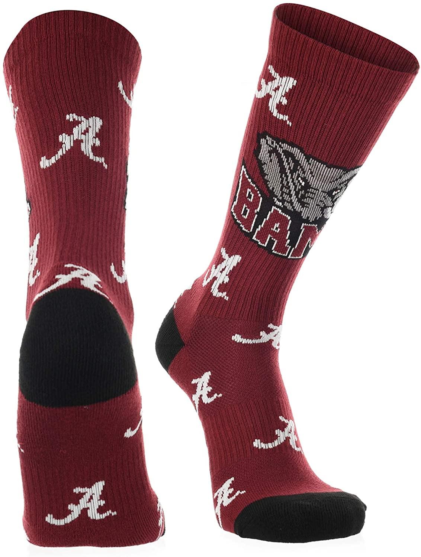 Alabama Crimson Tide Socks Crew Length Sock Mayhem