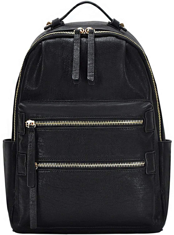 Madison West Kylee - Utilitarian Multi Pocket Travel Fashion PU, Faux, Vegan Leather School Bag Women's Backpack Bag