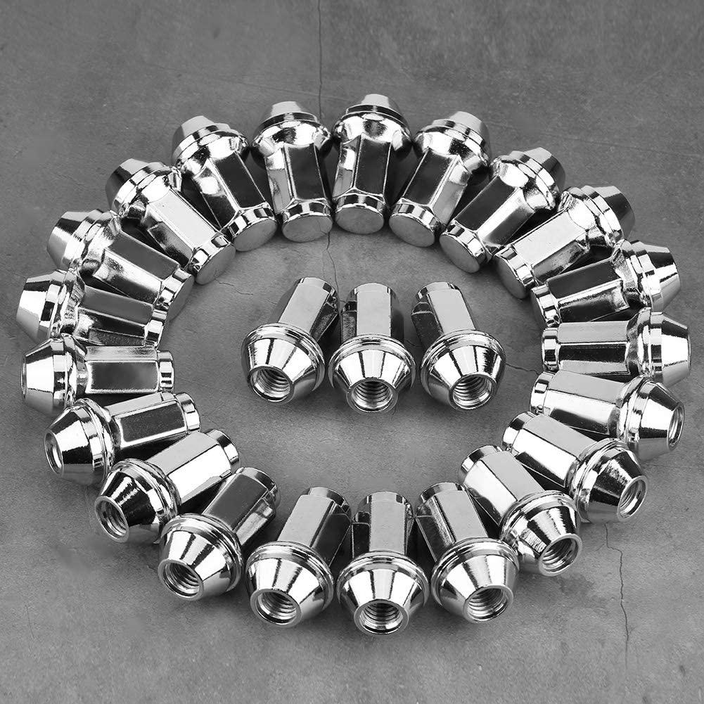 24Pcs Wheel Locking Lug Nuts fit for Ford F150 Expedition Navigator 4L3Z-1012A, 7L1Z101A, 611-288 Premium Car Wheel Nut