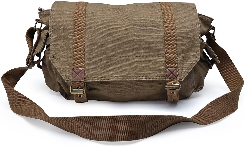 Gootium Canvas Messenger Bag - Vintage Crossbody Shoulder Satchel