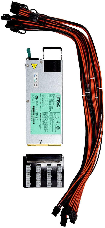 1100 Watt 92% Platinum Power Supply 110v/220v for GPU Open Rig Mining Ethereum