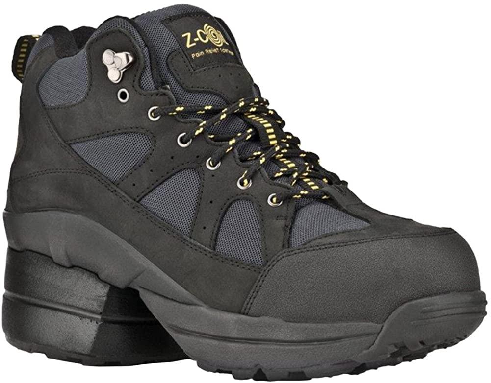 Z-CoiL Pain Relief Footwear Women's Outback Hiker Composite Toe Black Boots