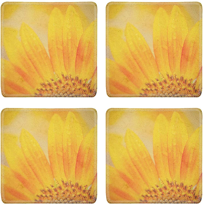MSD Drink Coasters 4 Piece Set Image ID: 30214174 Vintage sunflower