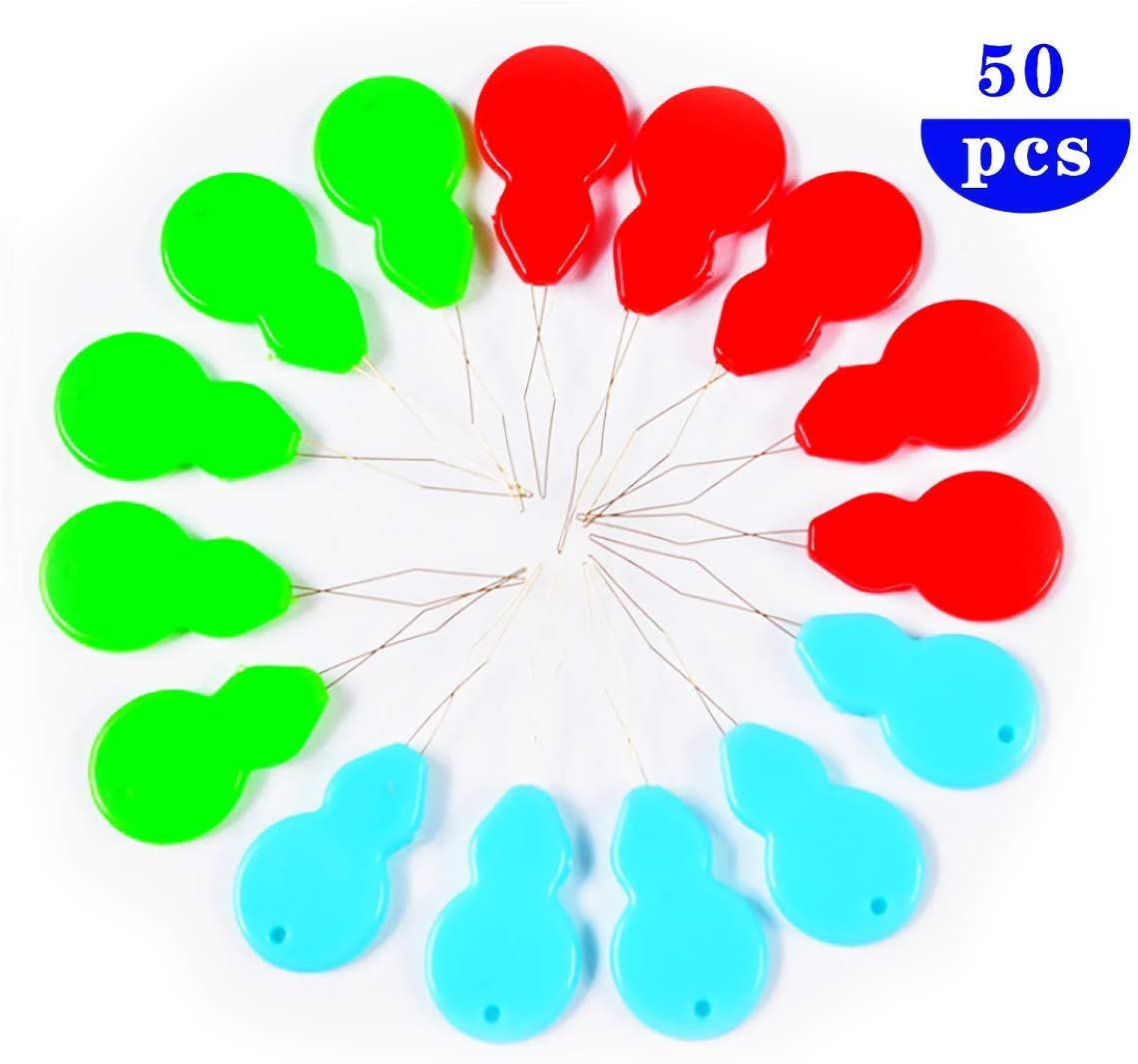HuiYouHui 50pcs Gourd-Shaped Needle Threaders,Multicolor Stitch Insertion Hand Machine Sewing Tool, DIY Needle Threader Tool