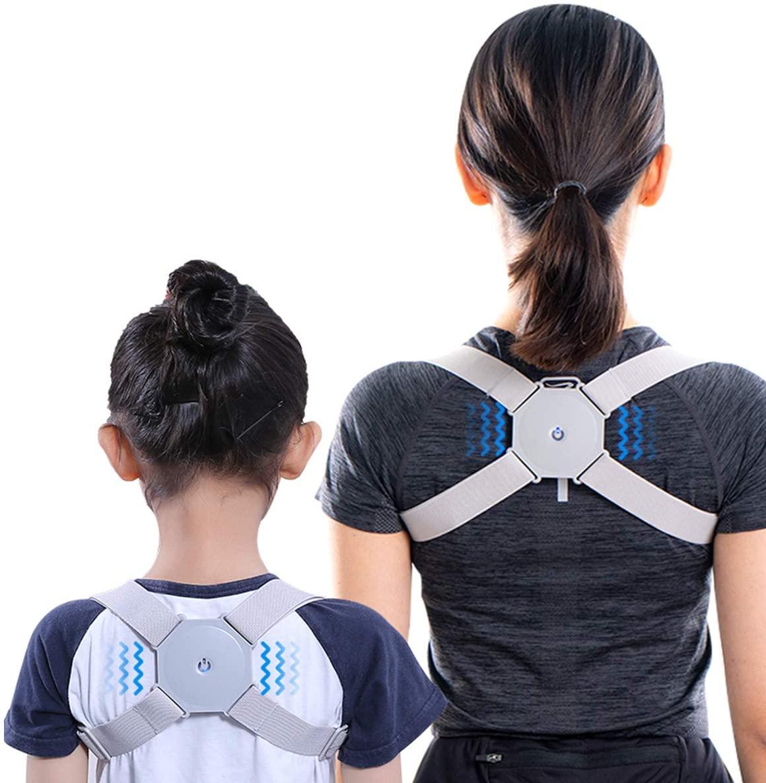 Smart Posture Corrector,Adjustable Back Brace for Shoulder Support,Electronic Back Corrector with Sensor Vibration Reminder,Providing Pain Relief from Neck,Back and Shoulder for Men, Women and Kids