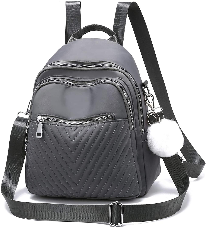 I IHAYNER Backpack Purse for Women Fashion Mini Backpack Nylon Water Resistant Rucksack for Ladies Shoulder Bag