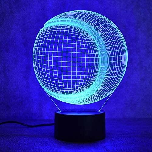 3D USB Visual Led Colorful Night Lights Creative Baseball Softball Lamp Children Bedroom Bedside Table Lamp Sleep Lighting Gifts