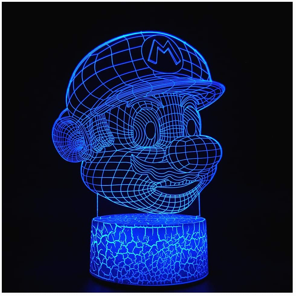 3D Illusion Night Light LED Desk Lamp Touch Control 7 Color Change for Home Decorations or Holiday Kids's Gifts