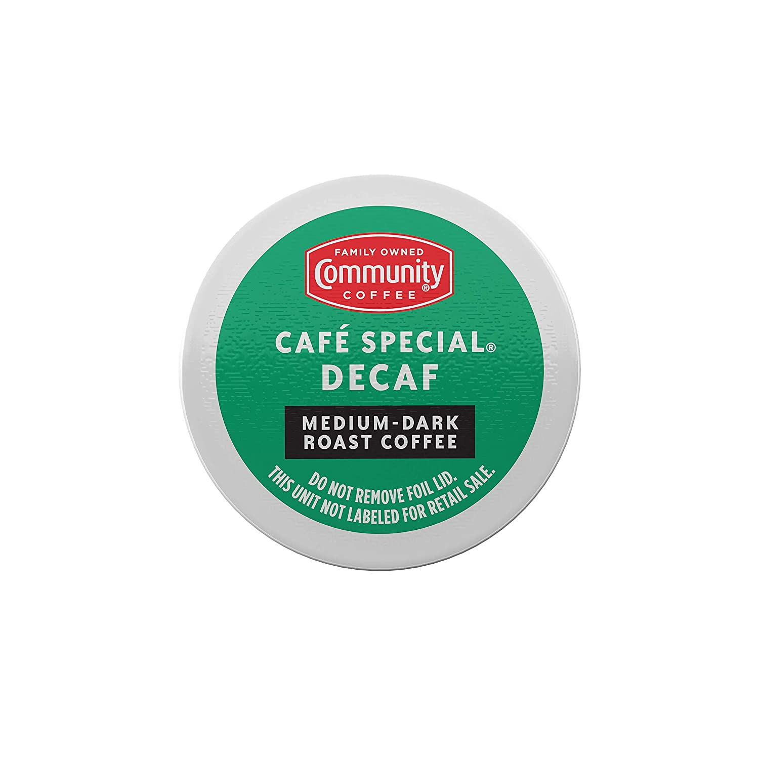 Community Coffee Cafe Special Decaf Single Serve Pods, Compatible with Keurig 2.0 K Cup Brewers, 24Count (Pack Of 4), Café Special Decaf, 96Count