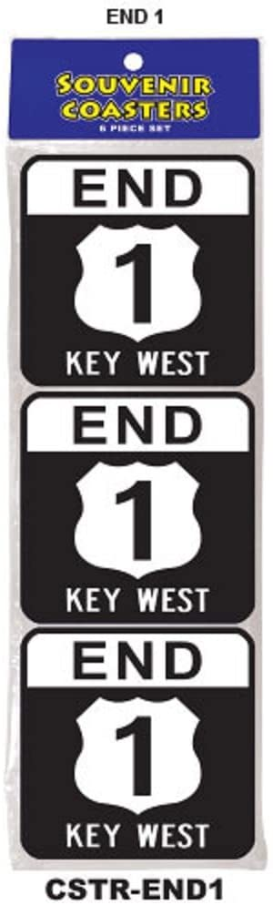 Coaster Set - Key West Souvenir 6 Pack Gift Cork Drink Coasters