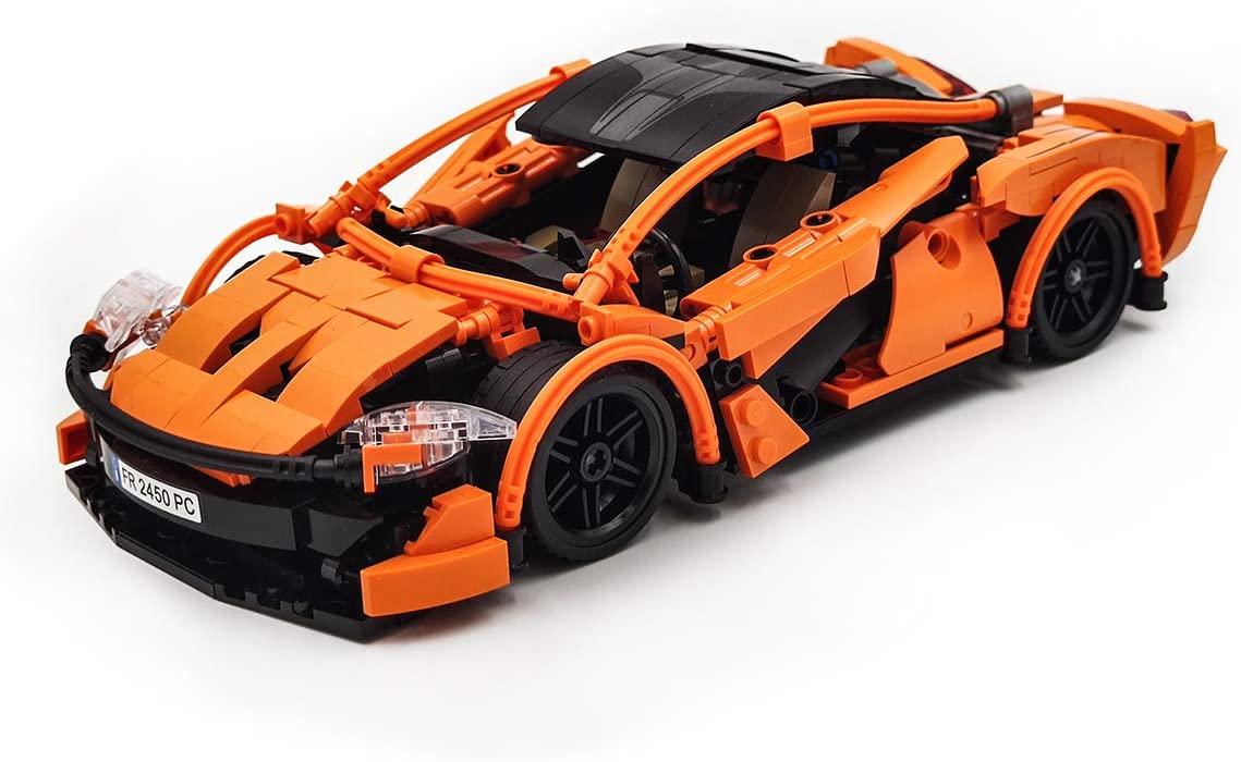 dOvOb Creator Orange Speed Champions Racing Cars Set,Adult Collectible Model,Building Block 708 pcs