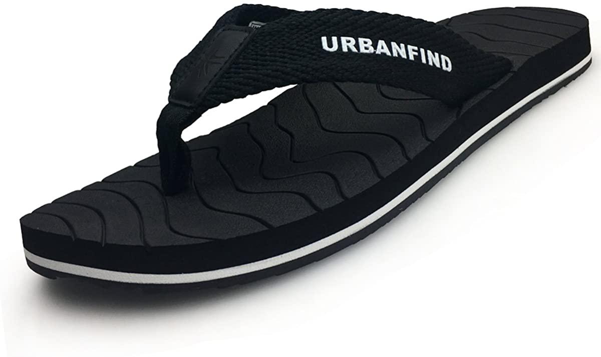 URBANFIND Men's Athletic Thongs Flip Flop Sandals Beach Shower Slide Comfortable Arch Support TPR Non-Slip Slippers