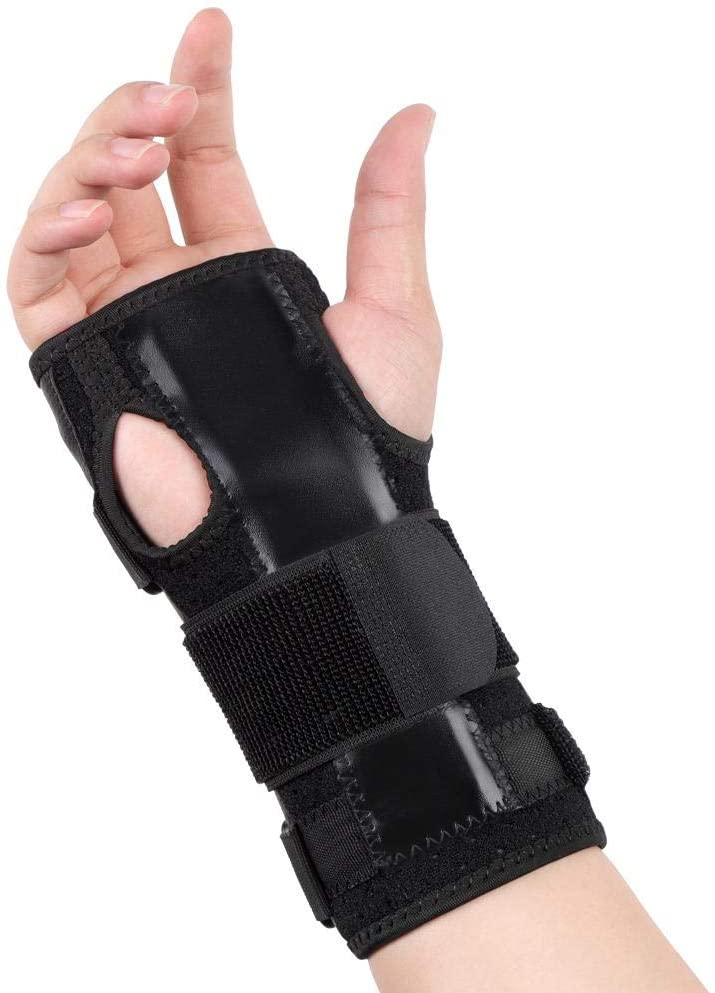 Qiilu Carpal Tunnel Wrist Brace for Men and Women, Wrist Support with Removable Splint Stabilizer for Tendonitis Mouse-Hand Injuries