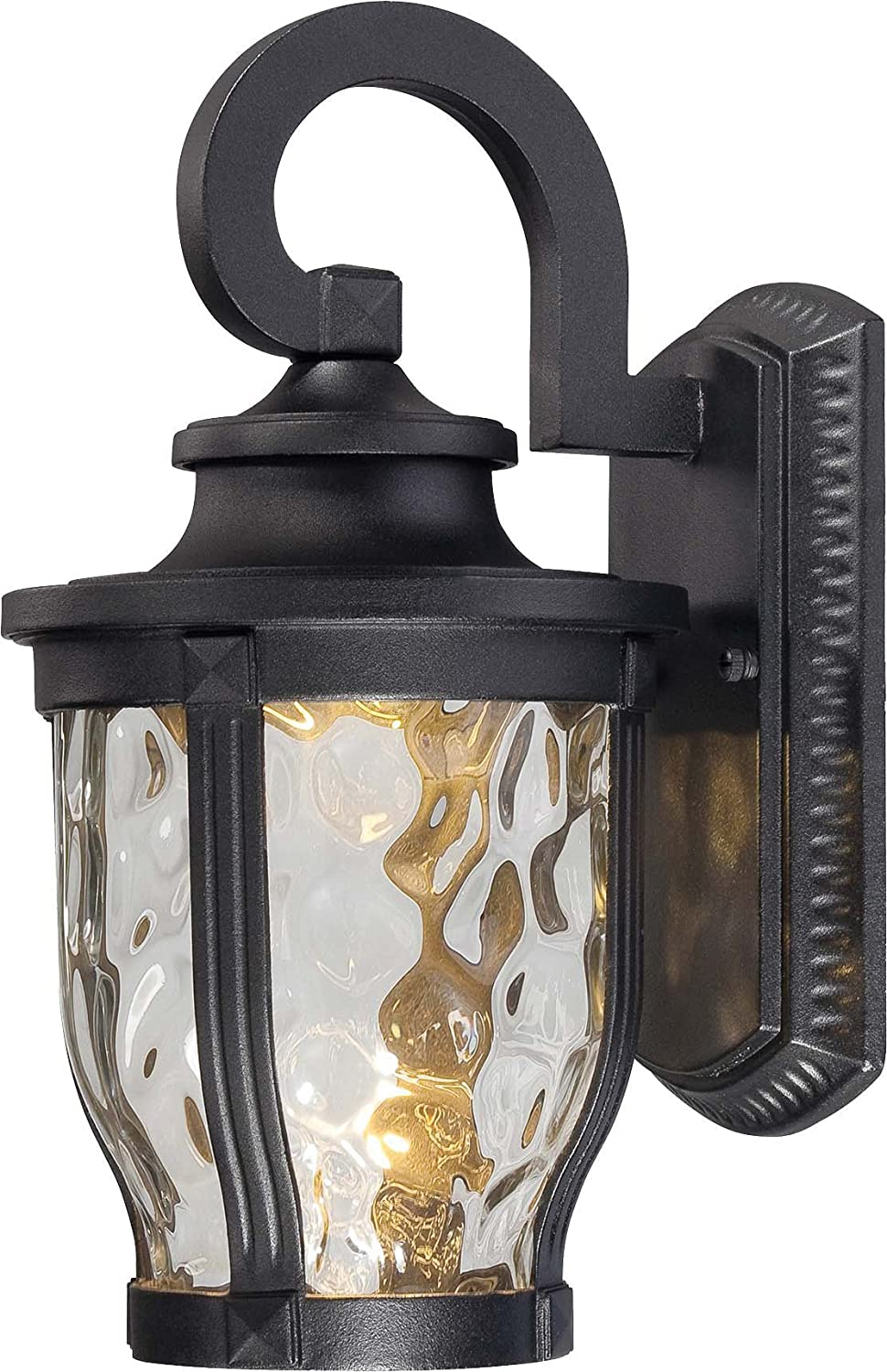 Minka Lavery Outdoor Wall Light 8761-66-L Merrimack Cast Aluminum Exterior LED Wall Lantern, Black