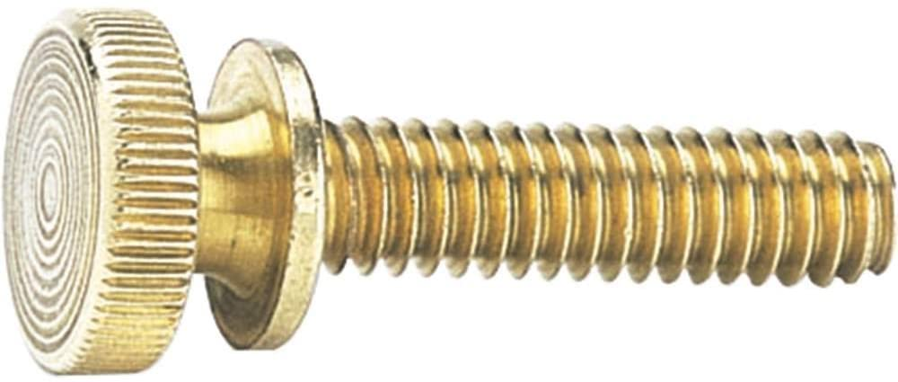 Decorative Solid Brass Knurled Knob - 1/4