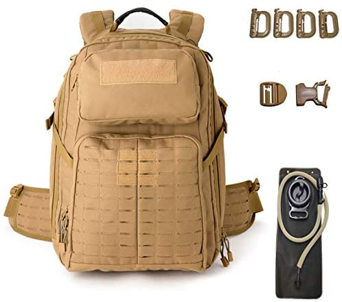 MT Adventure 48H Military Rucksack MOLLE Tactical Assault Hydration Backpack