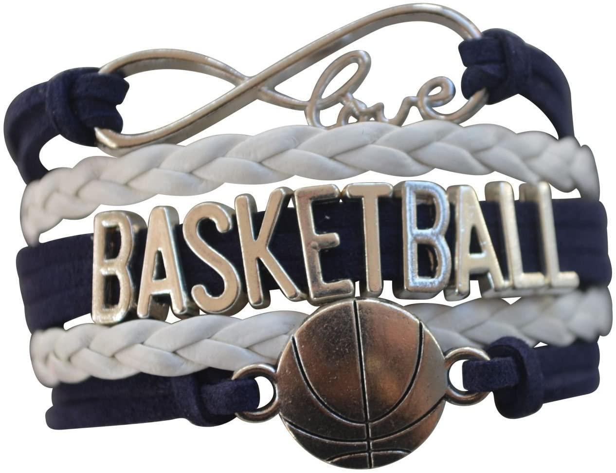Infinity Collection Basketball Bracelet - Charm Bracelet- Basketball Jewelry - Perfect Basketball Gift