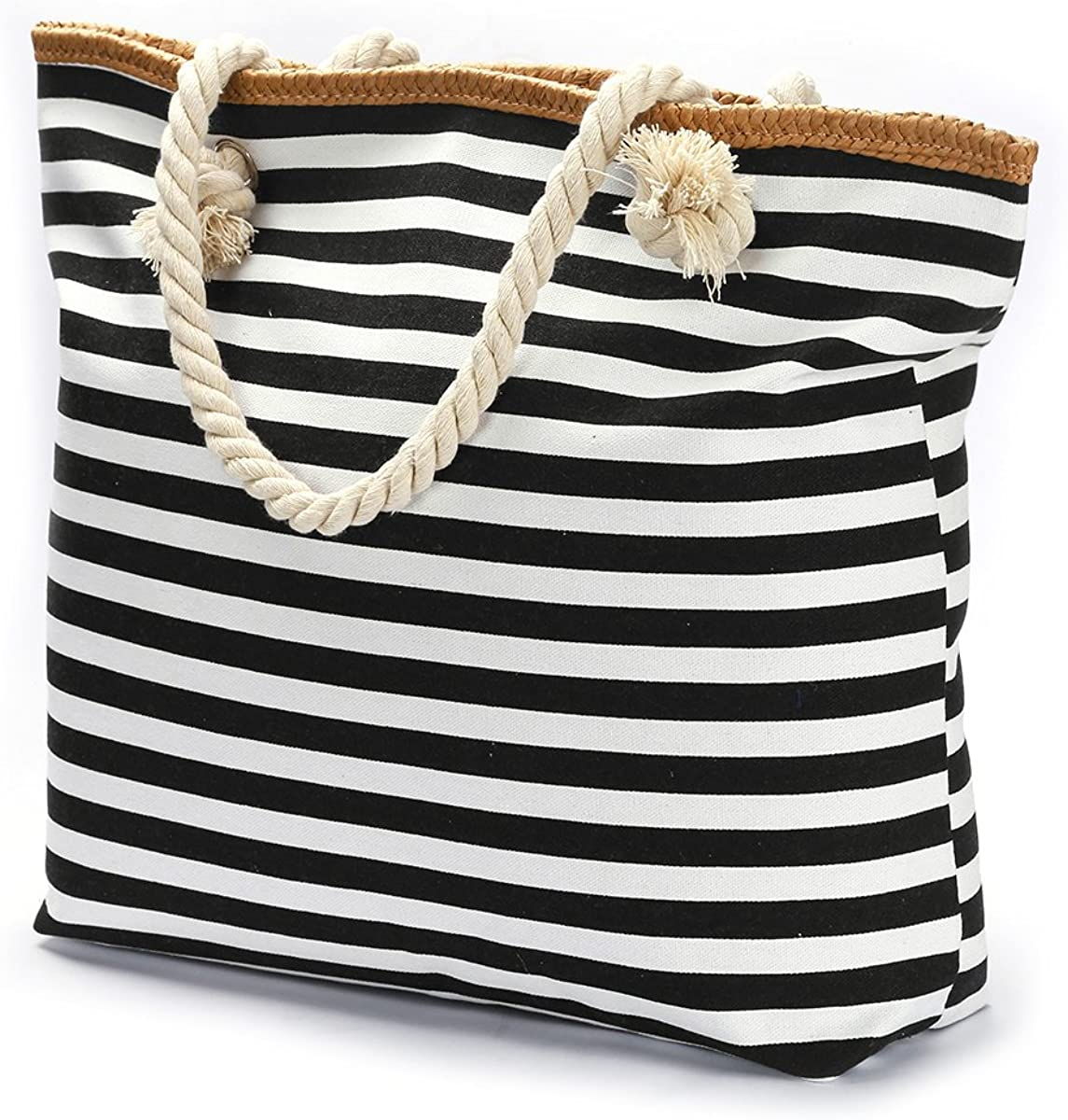 We We Large Straw Beach Bag Duffel Bags Waterproof Canvas Tote Hand Bag for Women Girls